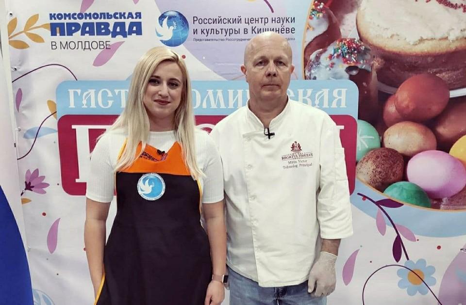 """В гостях у """"Гастрономической Пасхи"""" будут суперпрофессиональный шеф-повар Виктор Митин и прекрасная Маша Батырмурзаева."""