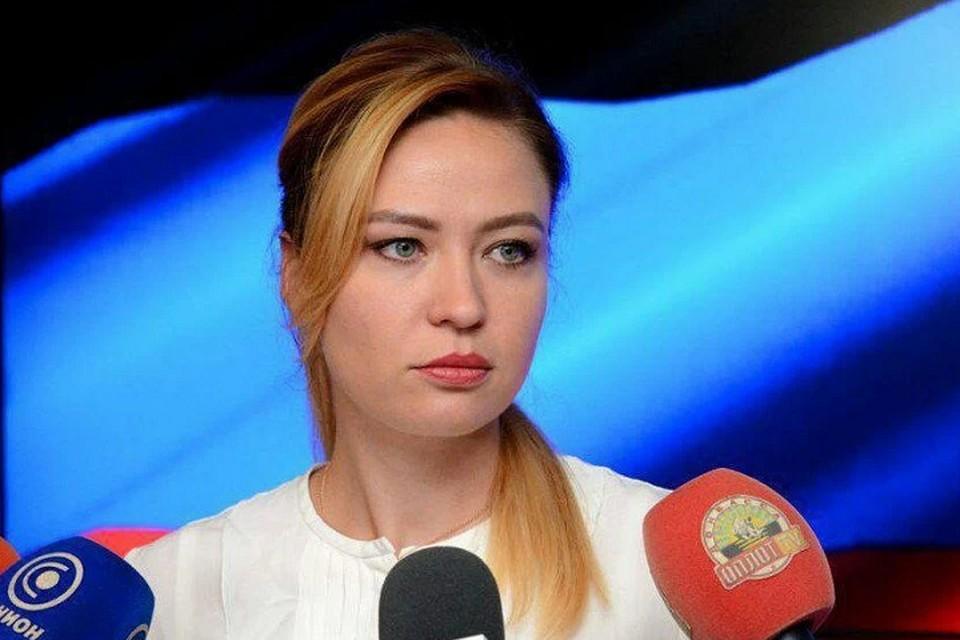 Полномочный представитель ДНР на переговорах Контактной группы, глава МИД Наталья Никонорова выступила с заявлением. Фото: МИД ДНР