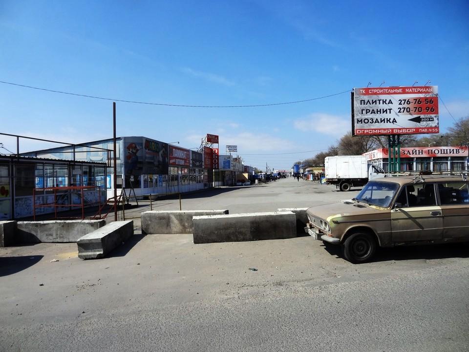 """На въездах установили бетонные ограждения. Фото: соц. сети, паблик """"Ростов-главный"""""""