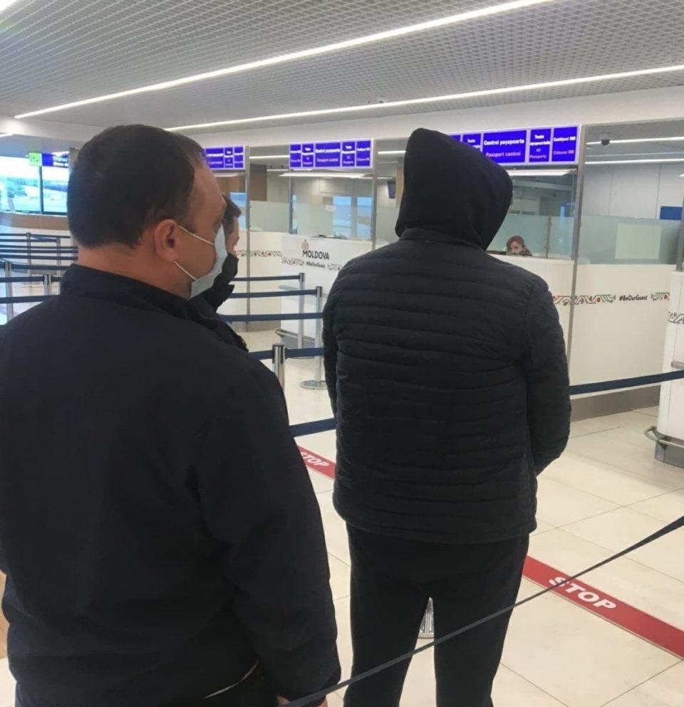Задержанного доставили самолетом из Австрии в Кишинев (Фото: ГИП).