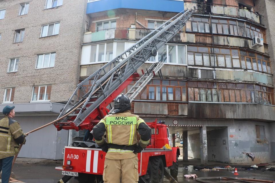 30 апреля в Ижевске загорелась квартира в пятиэтажке на Ворошилова