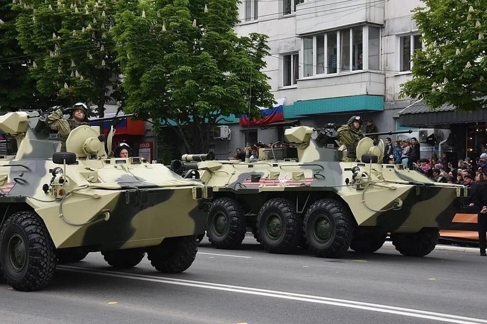 Прошлый Парад Победы в Симферополе прошел в пасмурный день