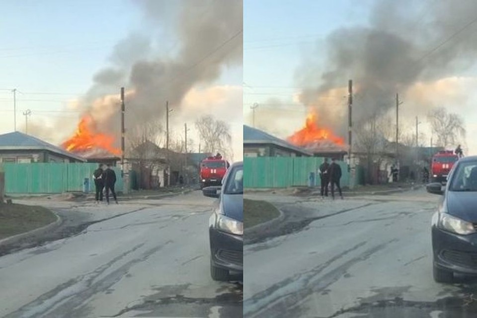 Пожар в частном доме в Советском районе Новосибирска удалось потушить. Фото: Кадр из видео
