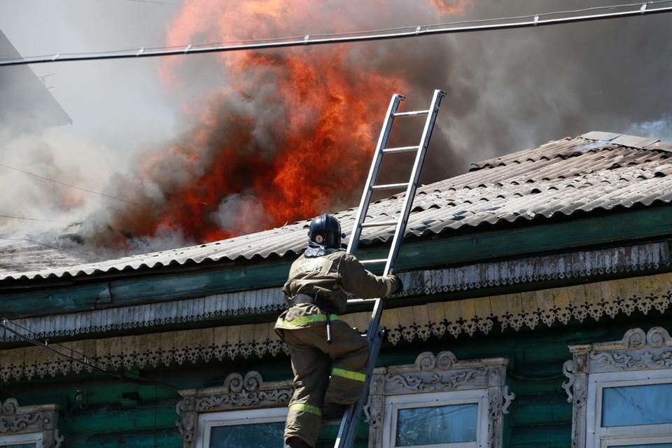 Пожар в Барнауле. Архивное фото