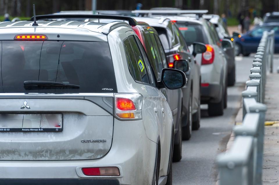 10-километровая пробка образовалась на Новоприозерском шоссе в сторону Петербурга
