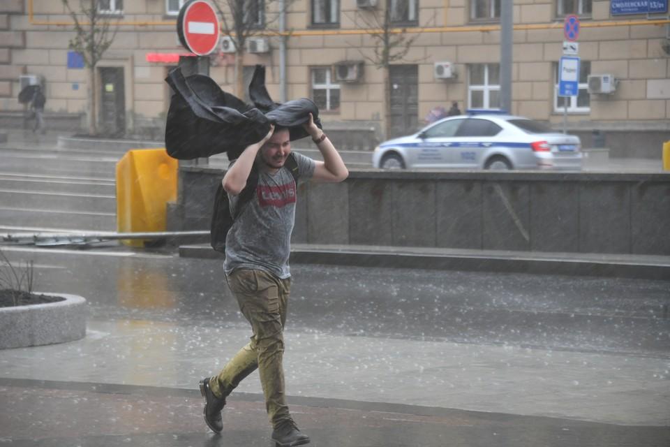 В Москве объявили желтый уровень погодной опасности из-за сильного ветра