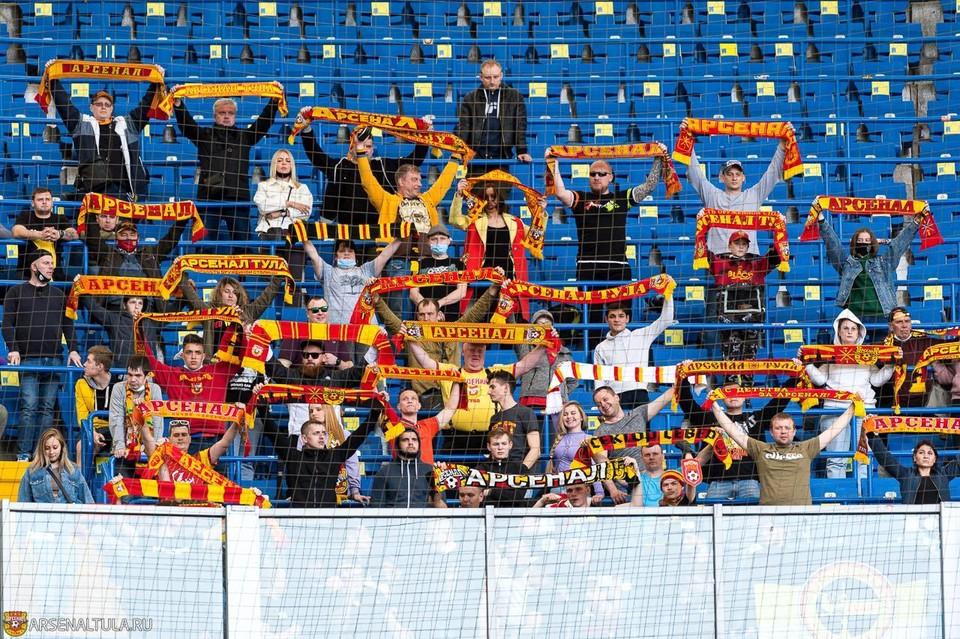 Фанаты «Спартака» и «Арсенала» в Туле устроили беспорядки на трибунах