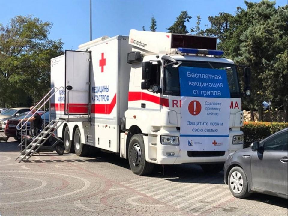 В городе работают четыре мобильных пункта, где можно поставить вакцину от коронавируса