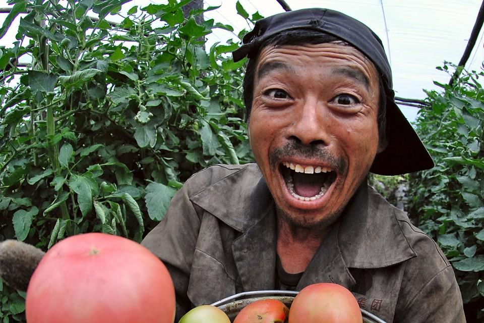 - Налетай, не скупись! Это не помидорка подорожал! Это я подорожал... Фото: Александр КОНДРАТЮК/ТАСС