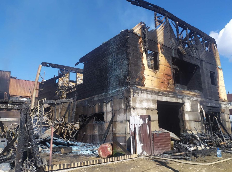 Сгоревший хостел. Фото: СУ СК России по Бурятии
