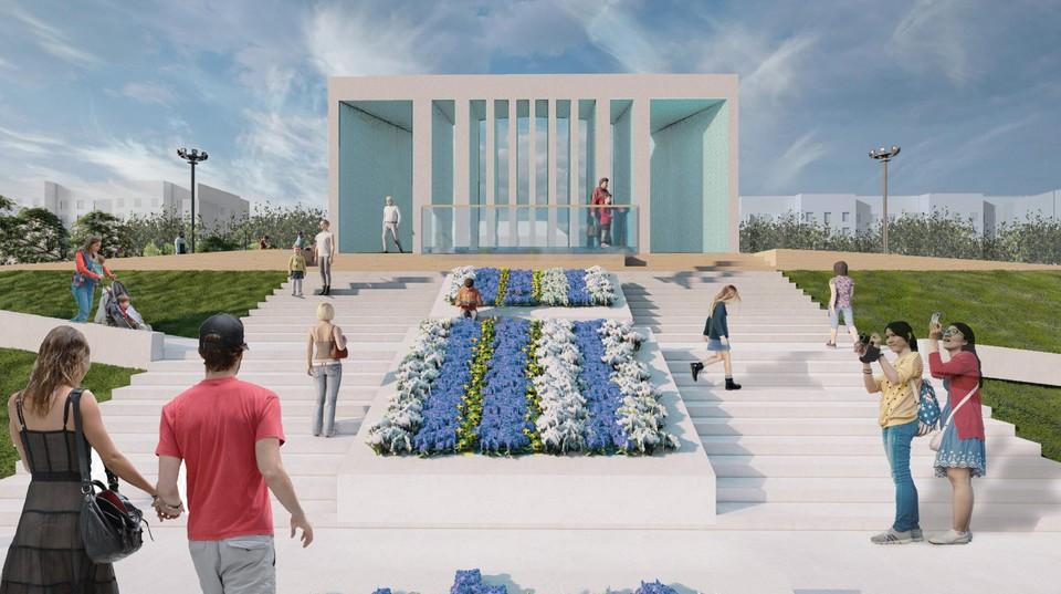 Так будет выглядеть городской бульвар в Кодинске после завершения ремонтных работ. Фото предоставлено компанией