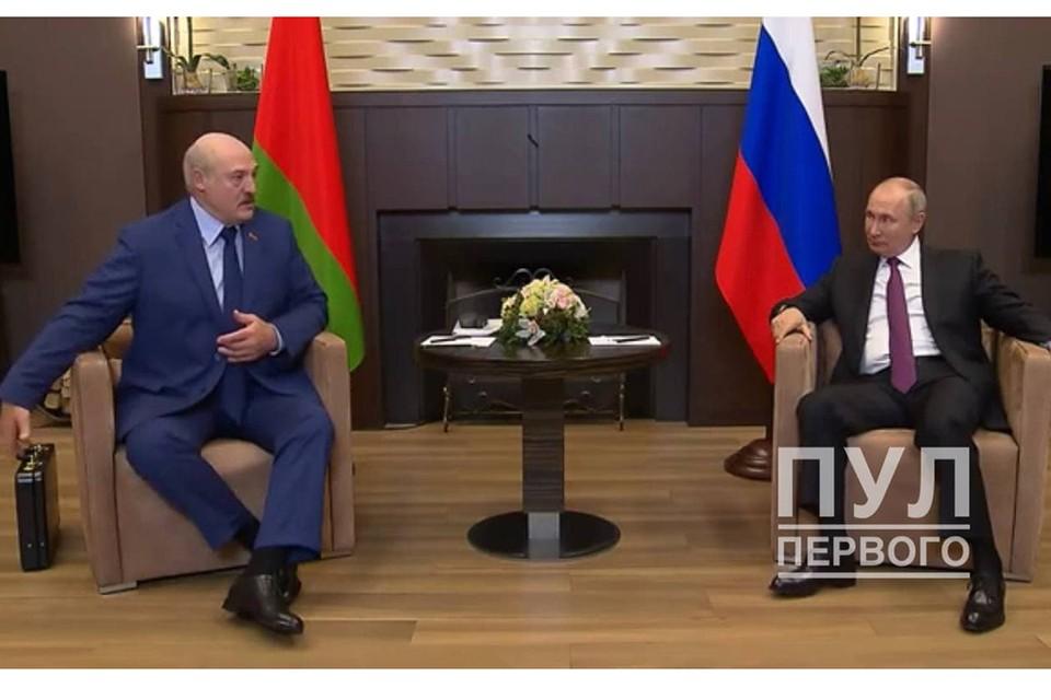 28 мая Александр Лукашенко встречался с Владимиром Путиным. Фото: Пул Первого.