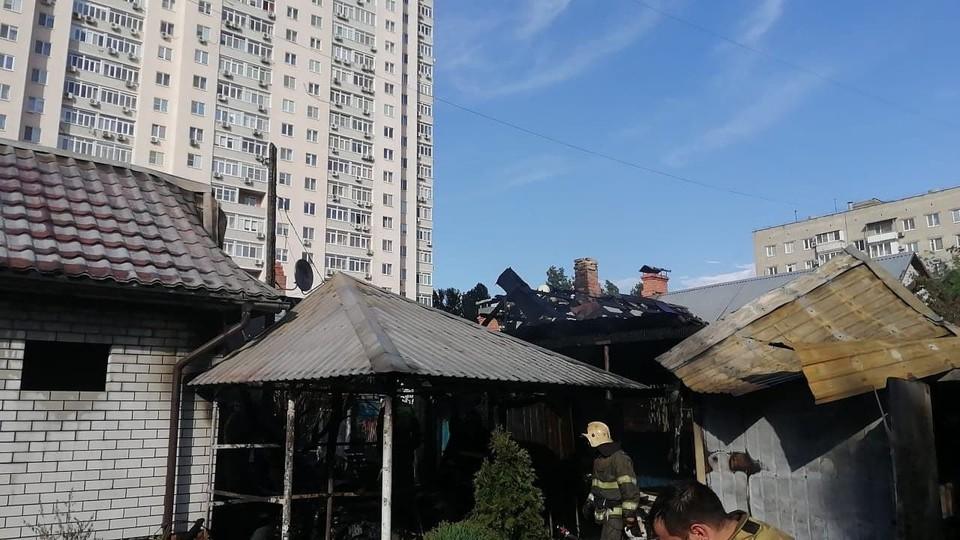 Пожар в жилом доме на улице Пугачева