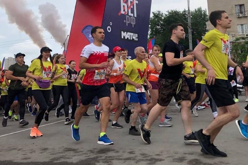 В забеге в Ростове поучаствовали три тысячи человек. Фото аккаунт Алексея Логвиненко в Инстаграм