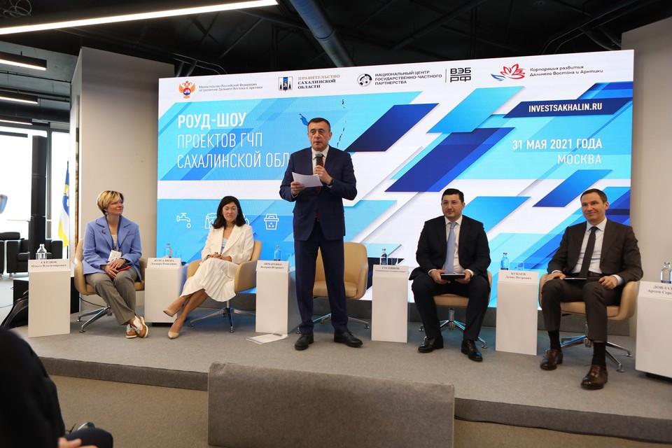 Губернатор Сахалинской области Валерий Лимаренко представил проекты по строительству социально значимых объектов в Москве