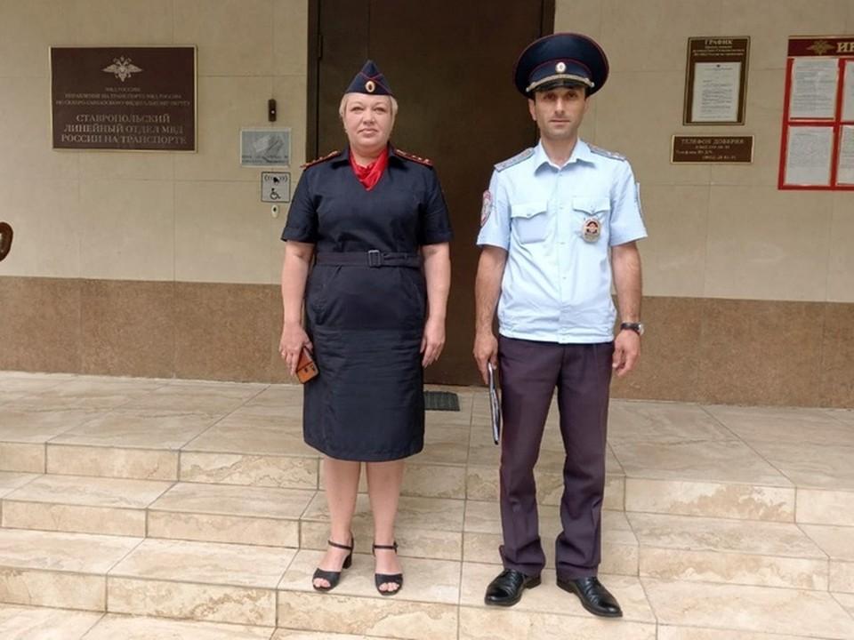 Полицейские, которые спасли ребенка: Артур Аванесян и Наталья Марьина