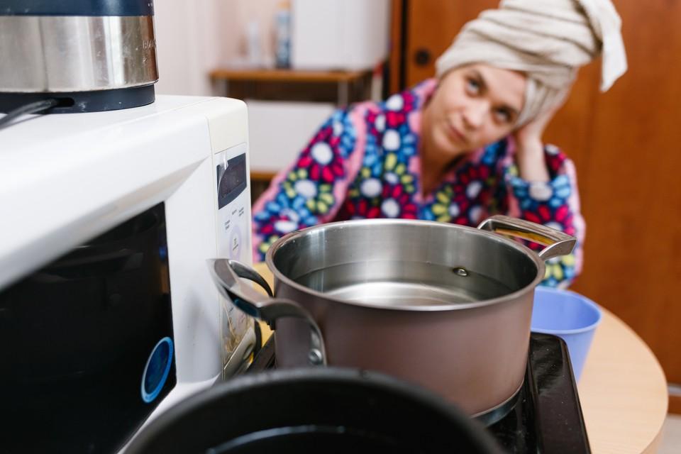 Горячую воду отключили примерно в 120 домах Ижевска