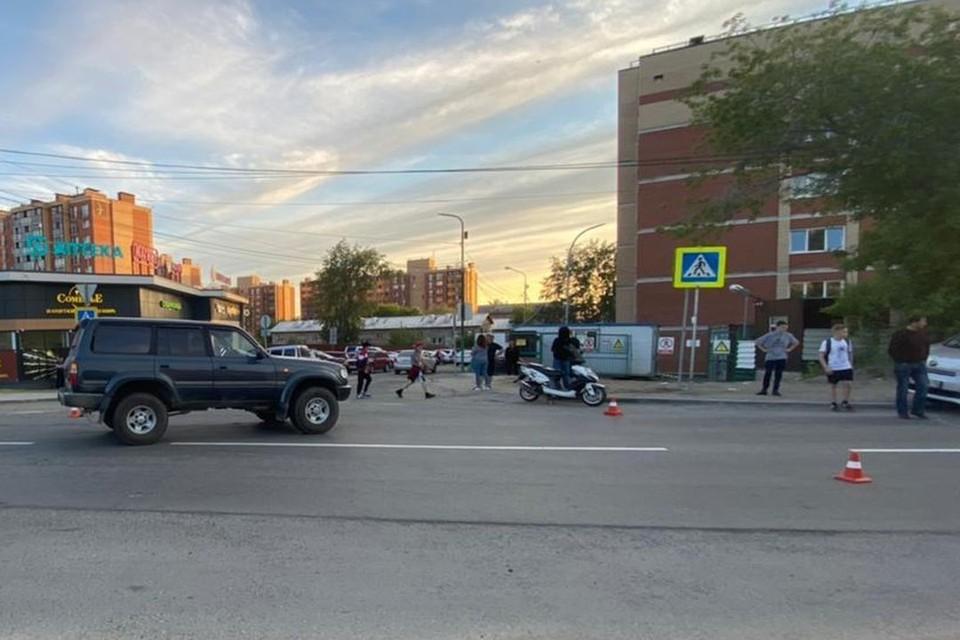 У подростка не было водительского удостоверения, разрешающего езду на мопеде. Фото: ГИБДД по Новосибирску