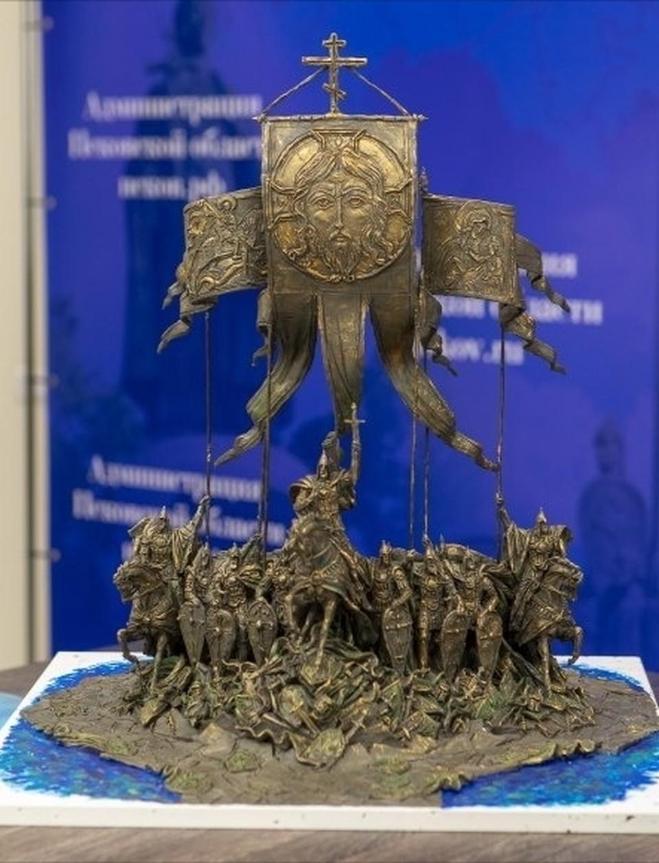 Макет будущего памятника
