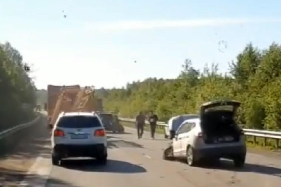 Авария произошла в субботу утром. Фото: vk.com/ekb.serov
