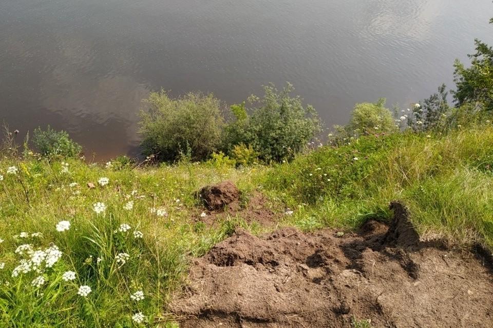 В Перми девочка упала с обрыва реки Камы.