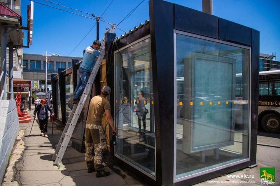 """""""Умные"""" остановки во Владивостоке вскоре начнут работать. Фото: Анастасия Котлярова/Администрация Владивостока."""