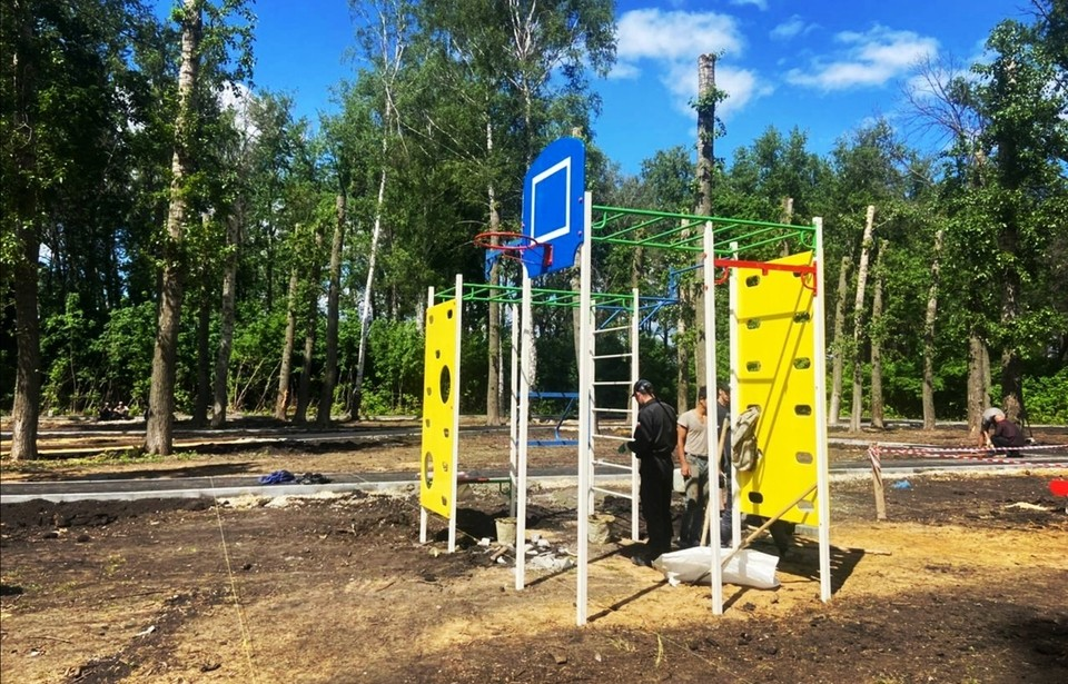 В наукограде благоустраивают парк в пределах улицы Социалистической и улицы Коммунистической микрорайона Кочетовка-3