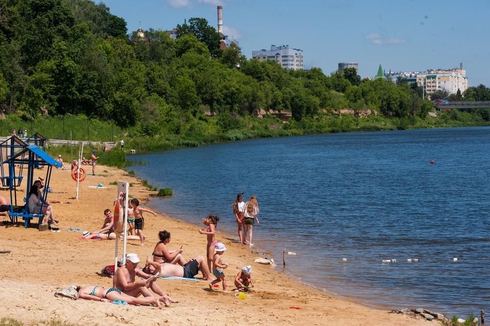 Пляж на Оке - одно из разрешенных мест отдыха на воде