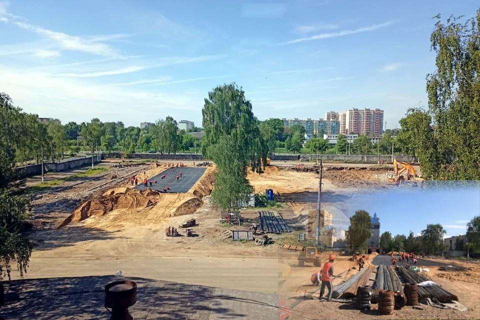 В парке кипит работа - там будут созданы четыре мультимедийные зоны, большой зал, площадки для отдыха и спорта. Фото: ПТО/коллаж