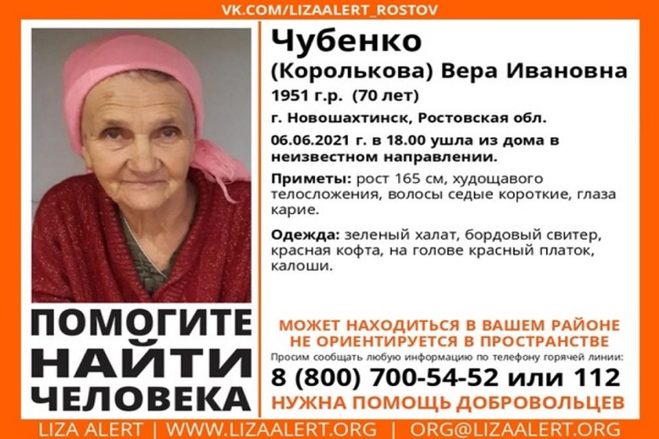 Предположительно может направляться Родионово-Несветайскую слободу Фото: группа в VK «ЛизаАлерт Юг»