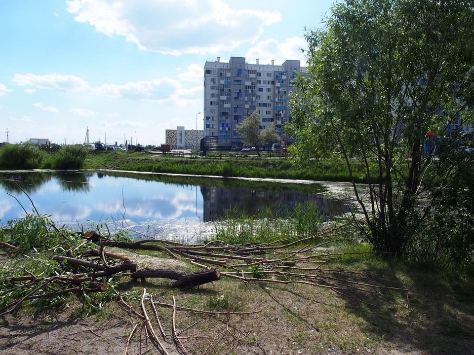 Пруд сохранят и укрепят как в парке Гагарина. Фото: администрация Тракторозаводского района Челябинска/vk.com
