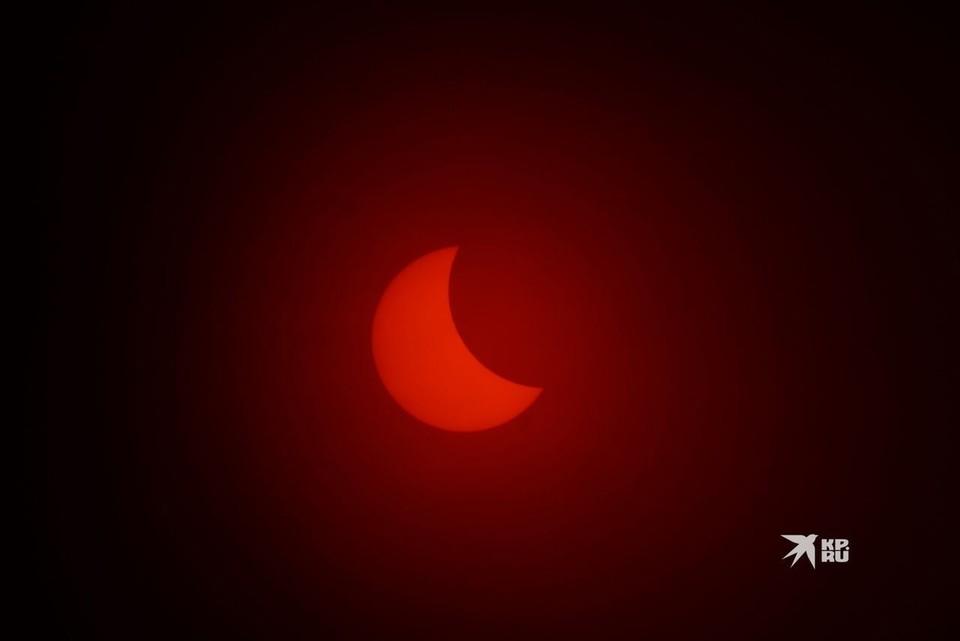 На Урале лунный диск закроет треть солнечного.