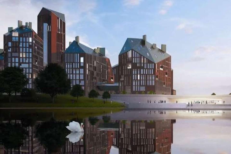 Вид на новый комплекс со стороны Нижнего озера.