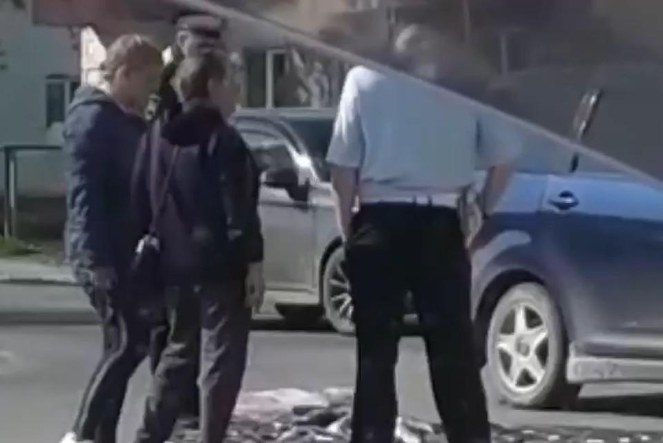 Задержание произошло днем на перекрестке улиц Калинина и Пионерская в Аниве