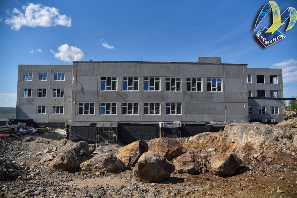 """Напомним, что детский сад строится в рамках нацпроекта """"Демография"""" и должен быть введен в эксплуатацию уже с осени текущего года. Фото: Администрация города Мурманска"""