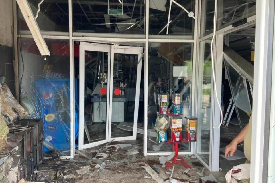 Последствия взрыва банкомата