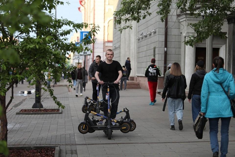 В Красноярске на проспекте Мира запретили электросамокаты
