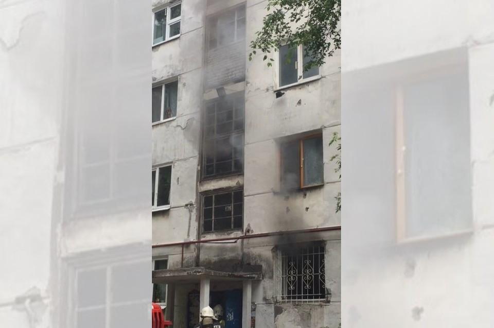 Причины пожара устанавливаются. Фото: ЧП Березники/ВКнтакте