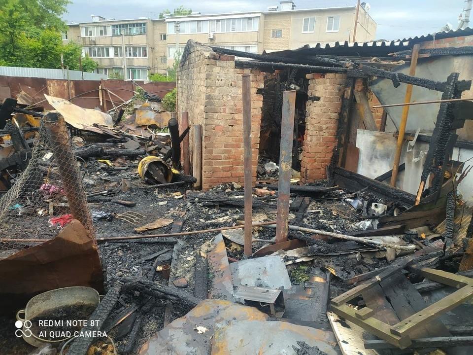 В Энгельсском районе горели сараи