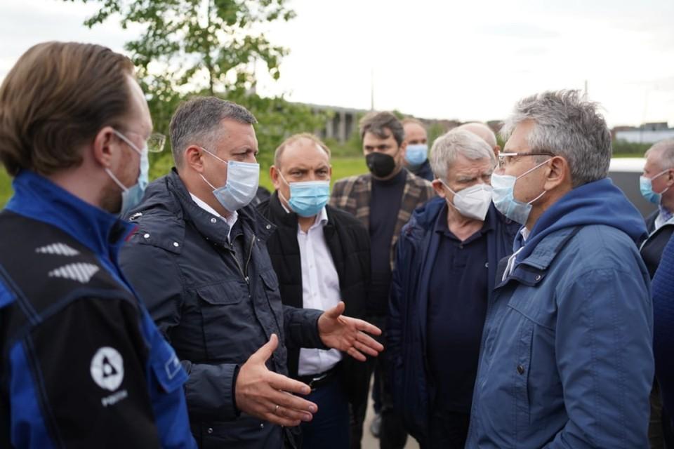 Игорь Кобзев и Александр Сергеев оценили работы по ликвидации экологического вреда на Усольехимпроме.