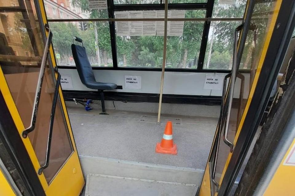 Пенсионерка упала в автобусе и оказалась в больнице. Фото: ГИБДД по городу