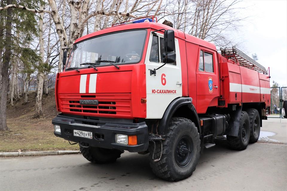 Пожар произошел в Новоалександровске