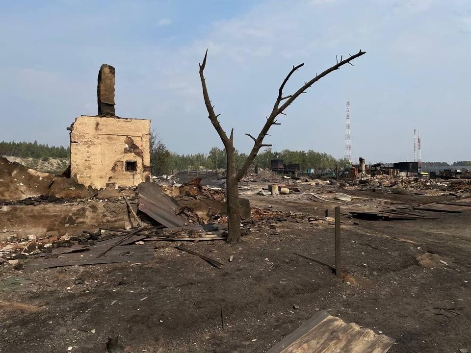 От домов остались только печи и фундаменты. Фото: читатель КП