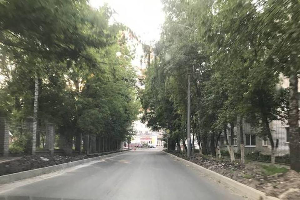 В Брянске на улице Горького завершили ремонт асфальтового покрытия. Фото:bragazeta