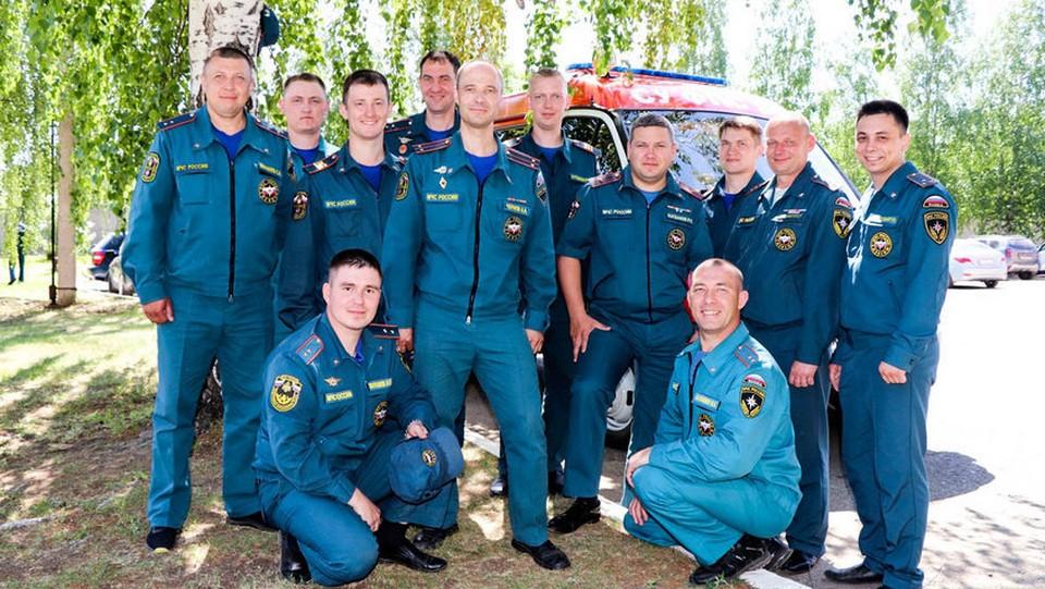 Сотрудники пожарно-спасательной части № 1 Фото: пресс-служба ГУ МЧС по Удмуртии