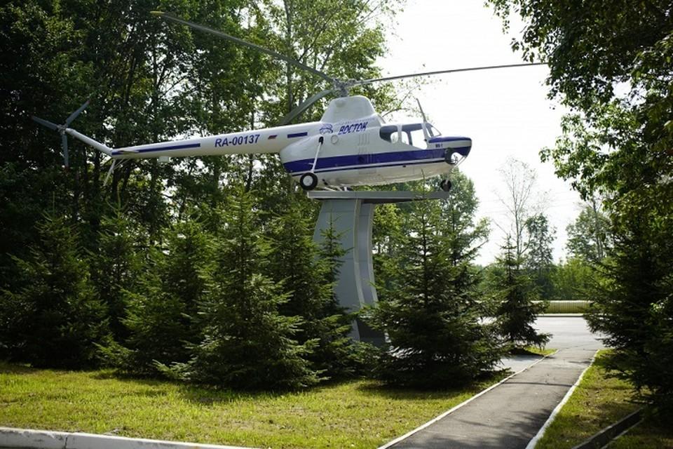 Памятник вертолету Ми-1 вновь появился в Хабаровске