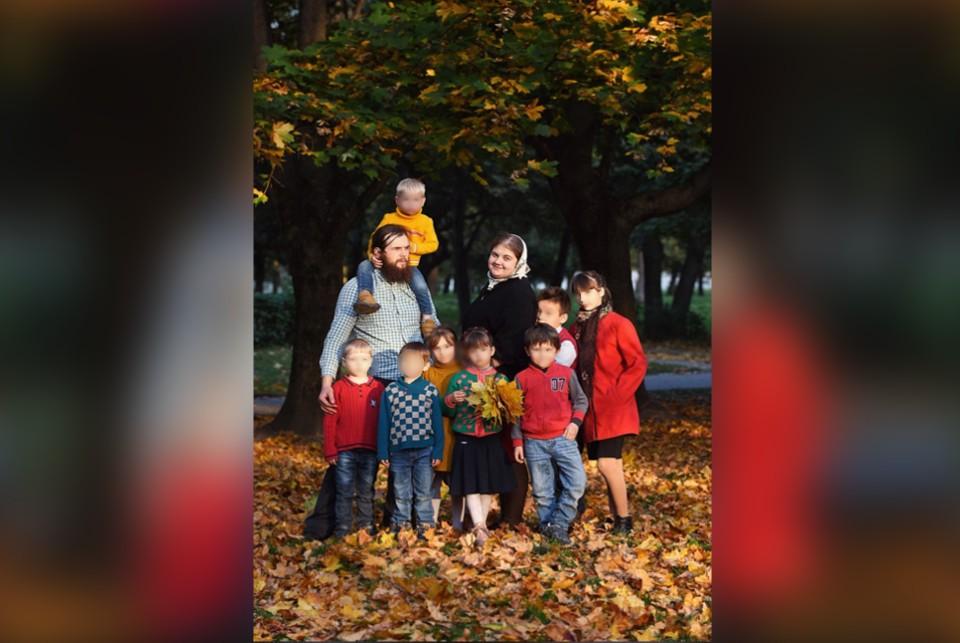 Семья Швецовых из Сандова. Фото: VK/Тверская семья