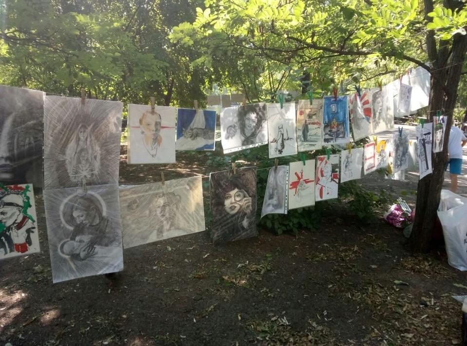 В горпарке прошла выставка художников-любителей