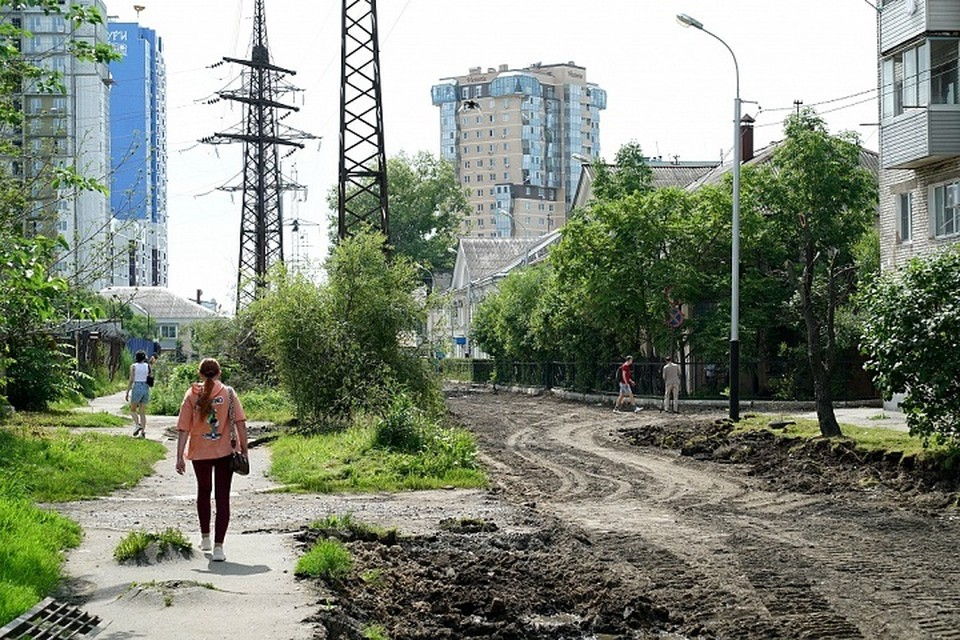 Практически километр дороги на улице Олега Кошевого заменят в Хабаровске