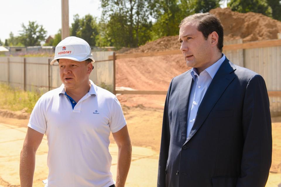 В Смоленске строительство детского сада на 150 мест идет с опережением. Фото: администрация Смоленской области.